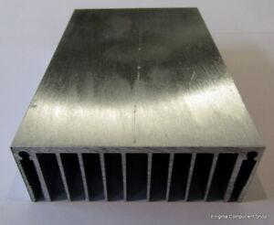 Medium Aluminium Heatsink - Electronics-Amplifier-Audio Project 120 x 80 x 30mm.