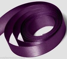 "Double Face Polyester Satin Ribbon 1/8"" x 5 yd ANY COLOR Finished Edge"