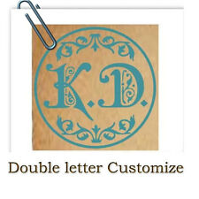 Personalized Custom Double Letters DIY Logo Gold Plated Wax Seal Stamp + Handle