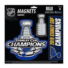 St. Louis Blues 2019 Stanley Cup Champions WinCraft Die Cut Magnet Sheet (3 PK)