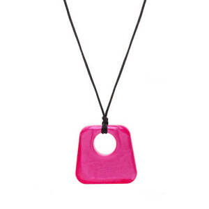 CHEWIGEM JAZZ PINK NECKLACE ASD ADHD CHEWELRY SENSORY CHEW CHEWING FIDGET CHEWY