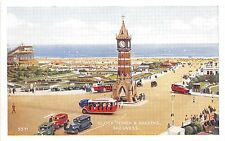 B89231 clock tower and gardens bus car voiture   skegness   uk