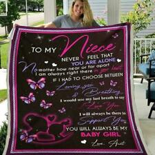 Butterfly To My Niece Never Feel That You Are Alone Aunt Fleece Blanket
