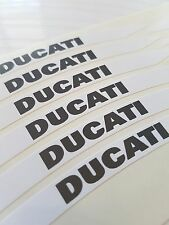 DUCATI HYPERMOTARD WHEEL RIM STICKERS WHITE REFRACTIVE RELECTIVE MADE IN ITALY