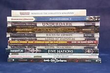 Lot 13 Dungeons & Dragons Books Player's Handbook 2 Epic Level Underdark Faerun