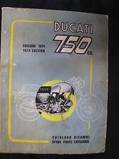 Ducati Book Ducati 750 Edition 1974 Spare Parts Catalogue (ITA / GBR) (JvH)