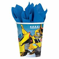 8pk Transformers Robots in Disguise Paper Cups Tableware Birthday Party Range