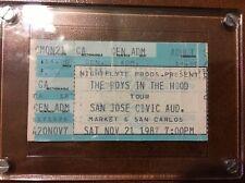 Boyz In The Hood NWA Ticket Stub 1987 RARE Rap Hip Hop Ice Cube Eazy E Dr. Dre
