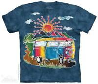 Hippie PEACE VW Volkswagen Vintage Van The Mountain Batik Tour Bus T Shirt S-5X