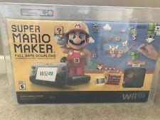 Nintendo Wii U Super Mario Maker Console Deluxe Set VGA 85+ Mint Gold NES