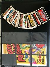 Wacky Packages Near Complete Series 4 (29/30) Sticker Set + 5/9 Puzzle