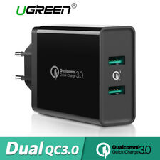 Carregador De Parede Usb ugreen UE adaptador Quick Charge 3.02.0 para iPhone Samsung Huawei