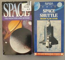 2 VHS lot-  Space Shuttle: Mission to the Future NASA home school science