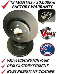 fits MITSUBISHI Mirage LA 1.2L 3Cyl 2012 Onwards FRONT Disc Rotors PAIR