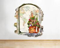 Q394w Travel Sightsee World Living Window Wall Decal 3D Art Stickers Vinyl Room