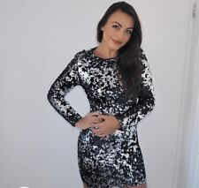 black and white sequin dress size 8/10