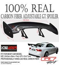 "JDM Fit Nissan Carbon Fiber 57"" 3D Rear Trunk GT Spoiler Wing Universal Set #L88"