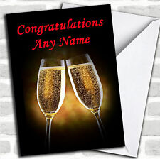 Champagne Glasses Congratulations Customised Card