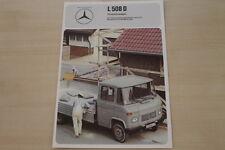 178386) Mercedes L 508 D - Pritsche - Prospekt 1975