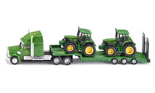 SIKU 1837 Freightliner Low Loader With 2x John Deere 6820 Tractors H0 Scale 1 87