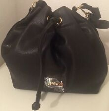 NUOVO HARRODS OF ~ windslow DONNA LONDON Coulisse Borsa A Tracolla/afferra ~ Nero