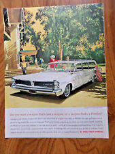 1963 Pontiac Catalina Wagon Ad  at the Country Club Golfing Theme AF/VK