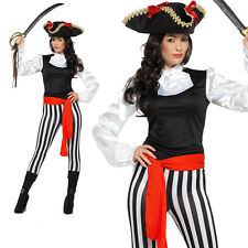 Pirate Costume Adult Womens Ladies Buccaneer Hen Party Fancy Dress Outfit