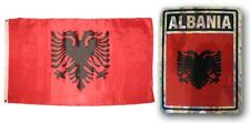 "Wholesale Combo Set Albania Country 3x5 3'x5' Flag and 3""x4"" Decal"