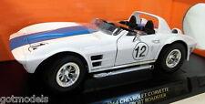 Road Signature 1/18 Scale 92698 1964 Chevrolet Corvette Grand Sport Roadster Wht