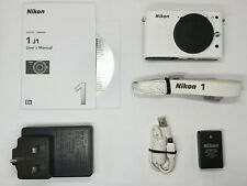 Nikon 1 J1 10.1MP Digital Camera - White (Body only) BOXED **1868 SHOTS**