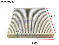 WESFIL CABIN FILTER FOR Toyota Yaris 1.3L, 1.5L 2008 09/08-on WACF0040
