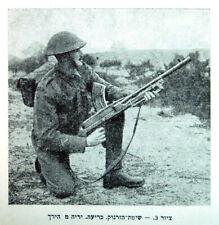 1945 Libro Manual Hebreo Israel independencia Bren ametralladora-Lee-Enfield Rifle