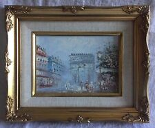 Parisian Scene Oil Painting Signed Hamilton