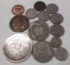 LOT SILVER COINS HUGE PORTUGAL FRANCE 1933 SWEDEN NEW ZEALAND HALF CROWN 1948 1