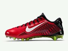 New Nike Vapor Carbon Elite TD Football Lacrosse Cleats Size 11.5 Red And Black