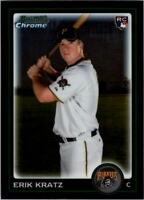 2010 Bowman Chrome Draft Baseball #BDP55 Erik Kratz RC Pittsburgh Pirates
