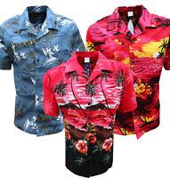 MENS HAWAIIAN SHIRT STAG BEACH HAWAII ALOHA PARTY SUMMER HOLIDAY FANCY S TO 6XL