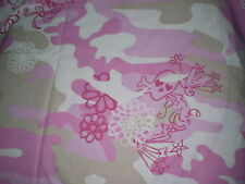 Funky PINK CAMOUFLAGE & SKULL THEMED FABRIC Remnant (50cm x 50cm)