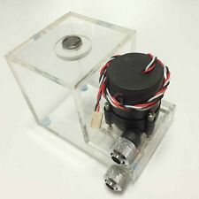 Clear Dual Bay Water Cooling Reservoir Tank 12V Pump G1/4 Thread for Computer PC