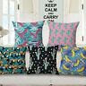 """18"""" Waist Cushion Pillow Case Cover Home Cotton Linen Car Sofa Bed Decor Cactus"""
