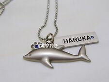 Free-iwatobi swim club Nanase Haruka dolphin shape double pendant alloy necklace