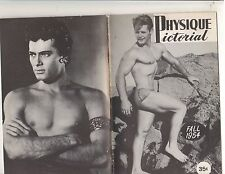 Physique Pictorial FALL 1954 Historic Gay Interest! Tony Curtis on back Cover
