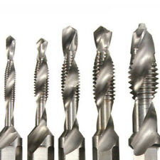"6Pcs 1/4"" Hex HSS M3-M10 Thread Spiral Screw Set Composite Tap Drill Bit"