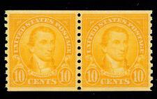 M 00004000 Omen: Us Stamps #603 Coil Pair Mint Og Nh Pse Graded Cert Xf-Sup 95