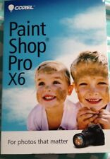 COREL PaintShop Pro X6 Sealed &  New! Paint Shop Photo Editing Software
