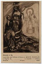 cartolina militare COMMERATIVA BENITO MUSSOLINI 1923 illustr. NOELQUI