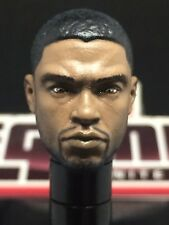 MARVEL LEGENDS PAINTED / FITTED MCU KING T'CHALLA (CHADWICK B.) 1:12 HEAD CAST