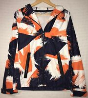 Vtg Puma Mens Sz S Multicolor Graffiti Print Retro Hooded Windbreaker Jacket euc