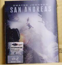 NEW SAN ANDREAS 3D+2D BLU-RAY FULL SLIP+LENTICULAR STEELBOOK! HD ZETA! PLZ READ