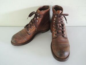 RED WING 8111 IRON RANGER Amber Leather 6-Inch Work Boots Size 8 D
